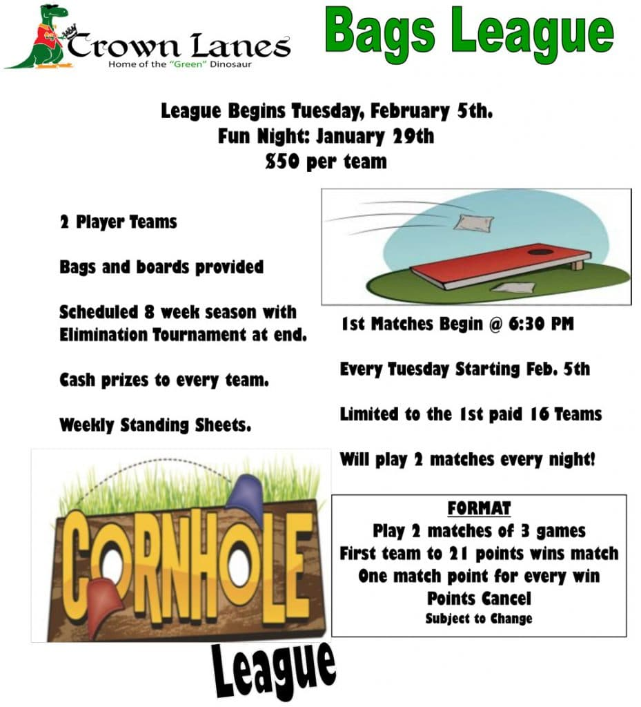 corn hole league flyer